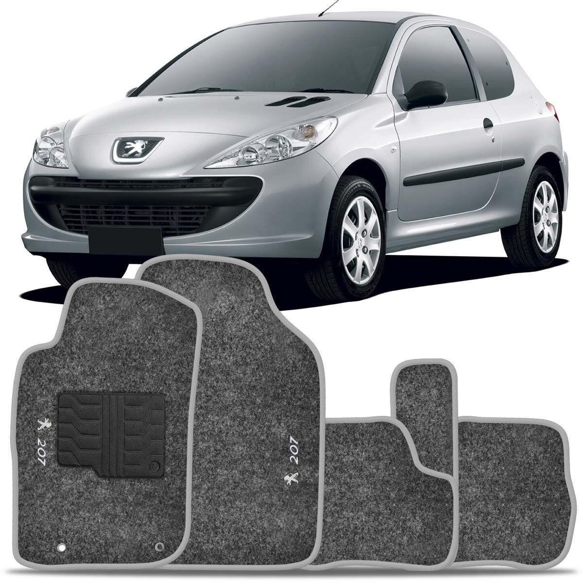 Tapete Carpete Peugeot 207 2010 2011 2012 2013 2014 Grafite