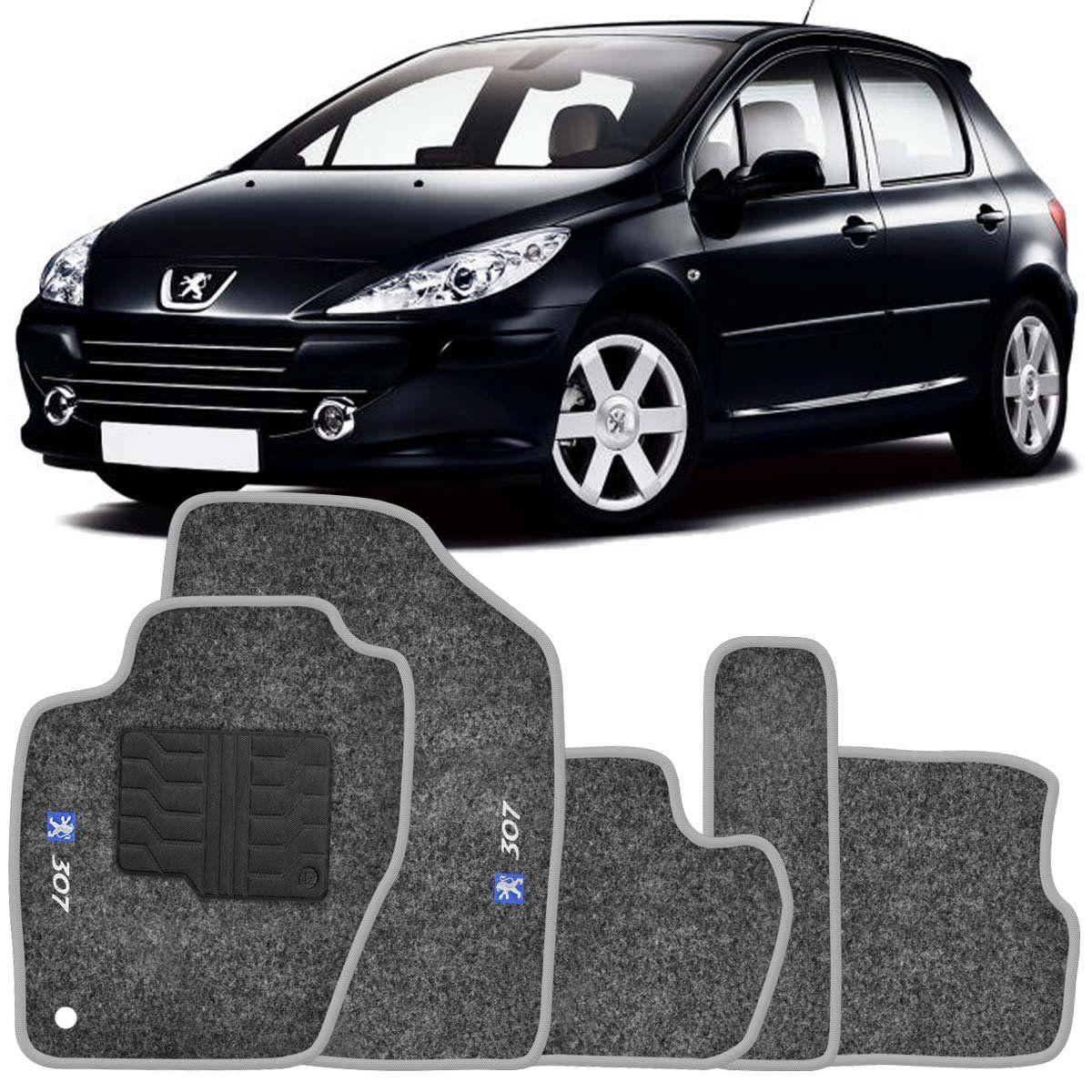 Tapete Carpete Peugeot 307 2002 2003 2004 2005 2006 2007 2008 2009 Grafite