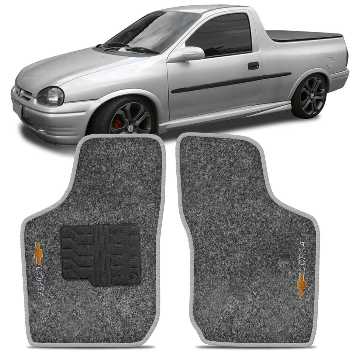 Tapete Carpete Pick'UP Corsa 95 96 97 98 99 2000 2001 2002 Grafite