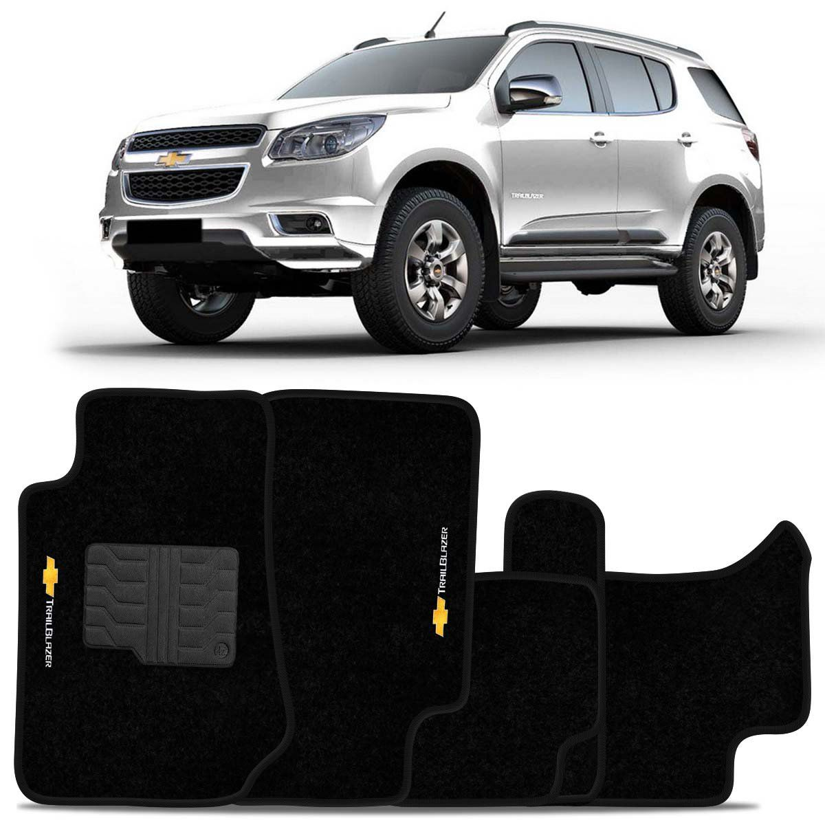 Tapete Carpete Trail Blazer 2013 2014 2015 2016 Preto
