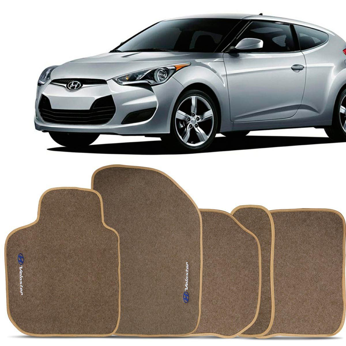 Tapete Carpete Veloster 2011 2012 2013 2014 2015 Bege
