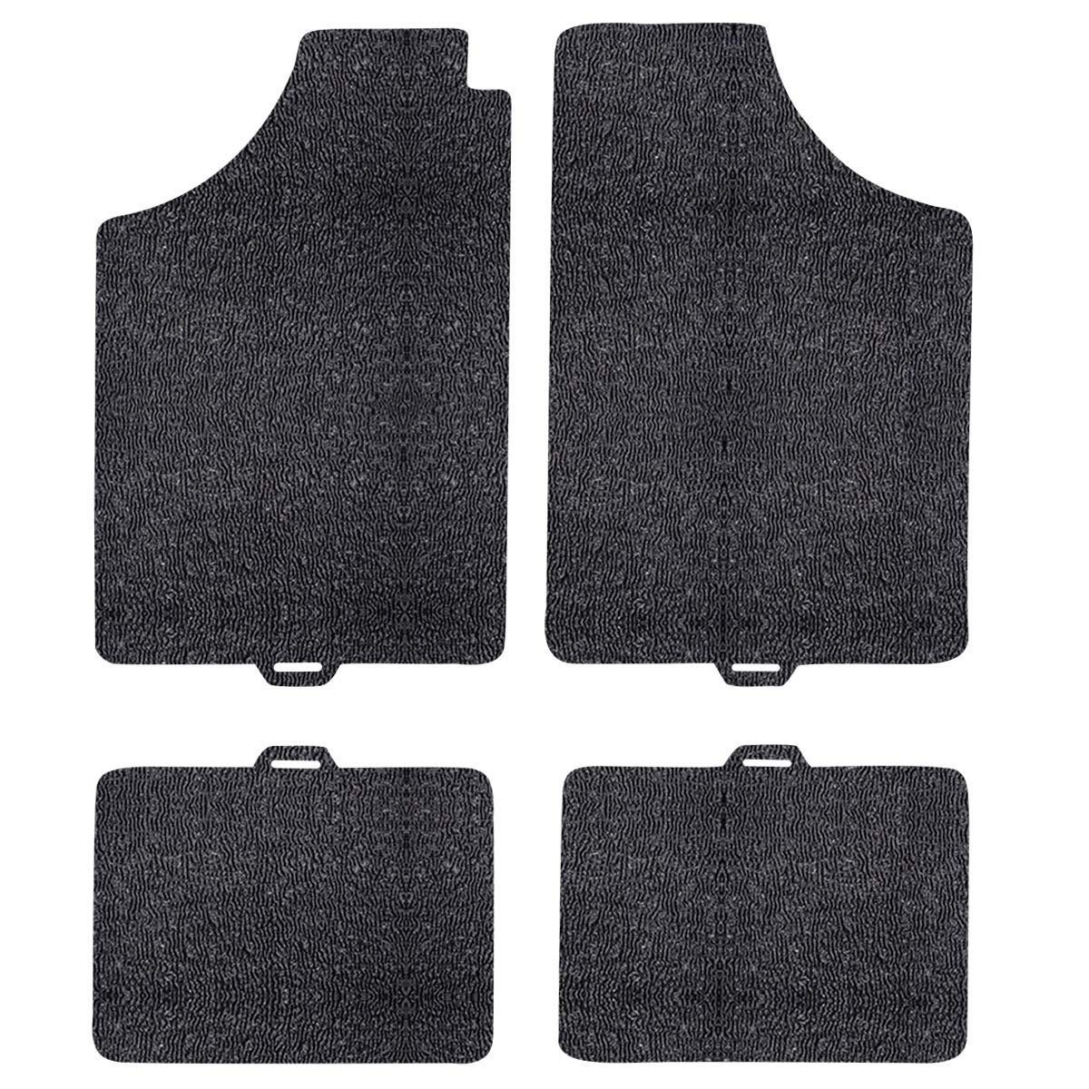 tapete pvc serie 1 pinado sem soleira preto - az acessórios