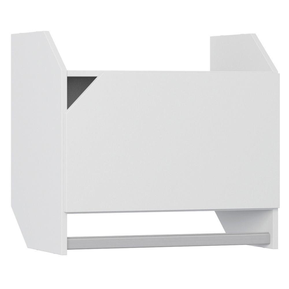 Armário Aéreo Com Porta E Cabideiro Soul Branco TX - Be Mobiliário