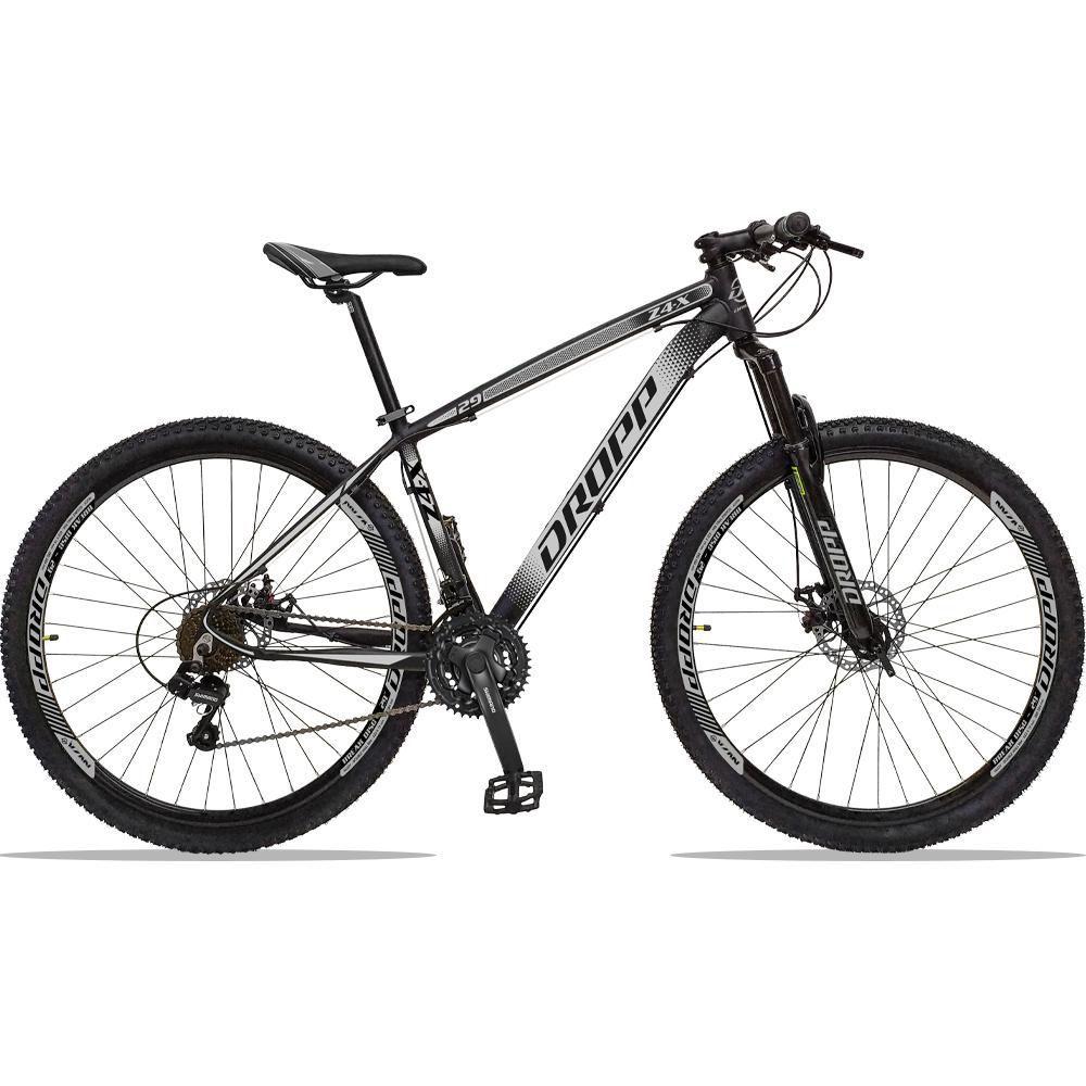 Bicicleta Aro 29 Quadro 21 Alumínio 21 Marchas Freio a Disco Z4X Preto Cinza - Dropp
