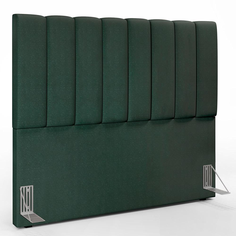 Cabeceira Cama Box Casal 140 cm Dália W01 Linho Verde Musgo - Lyam Decor