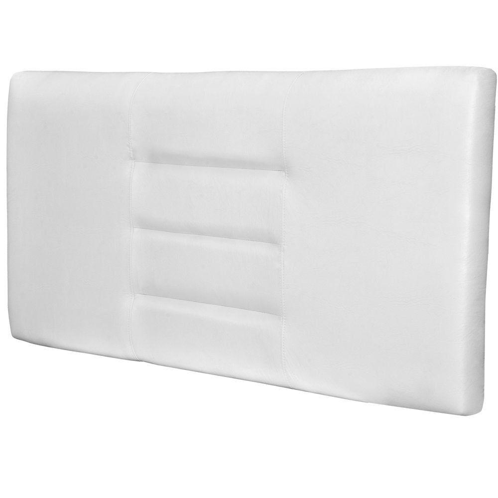 Cabeceira Painel Para Quarto de Casal Sabrina W01 Corino Branco 1,40 - Lyam Decor
