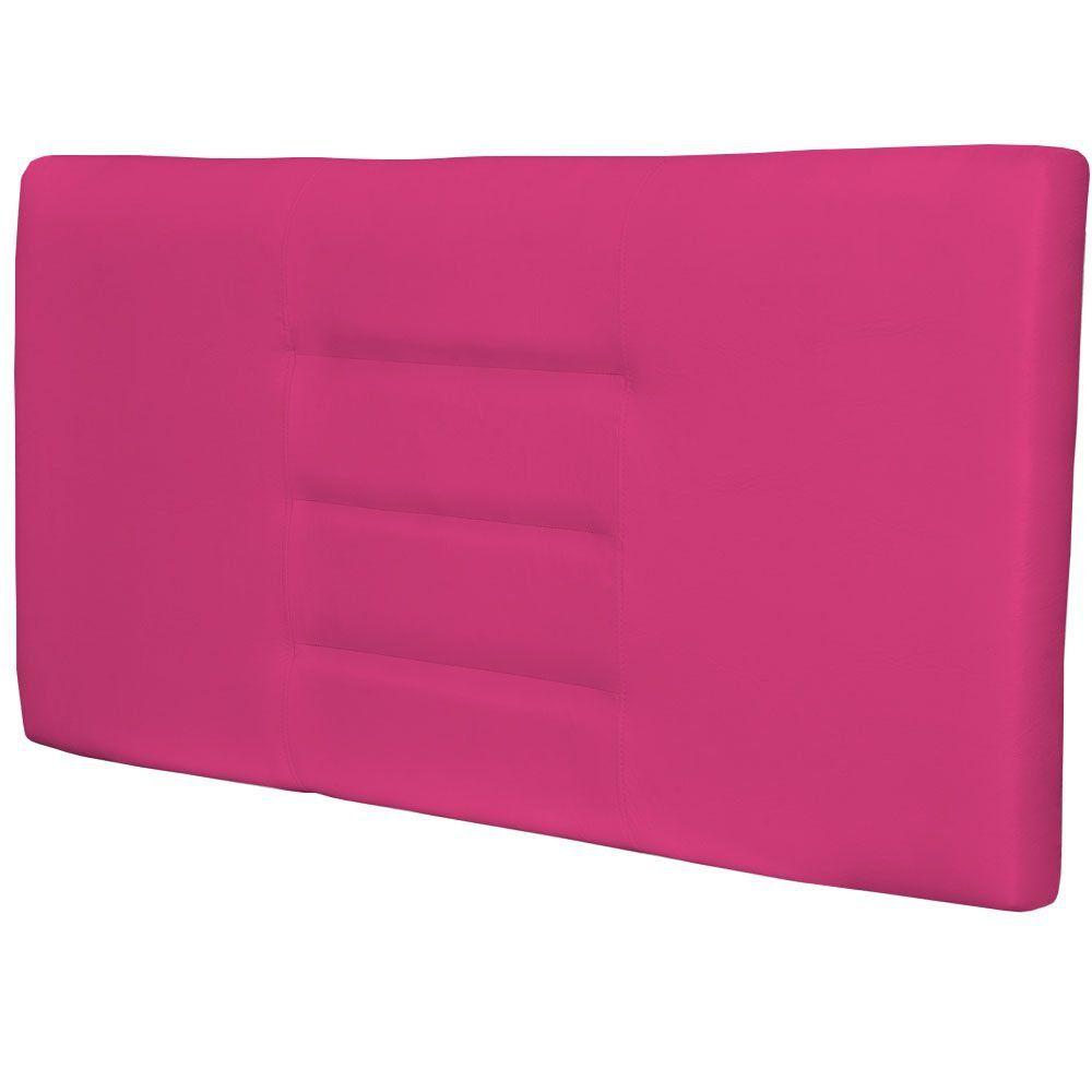 Cabeceira Painel Para Quarto de Casal Sabrina W01 Corino Pink 1,40 - Lyam Decor