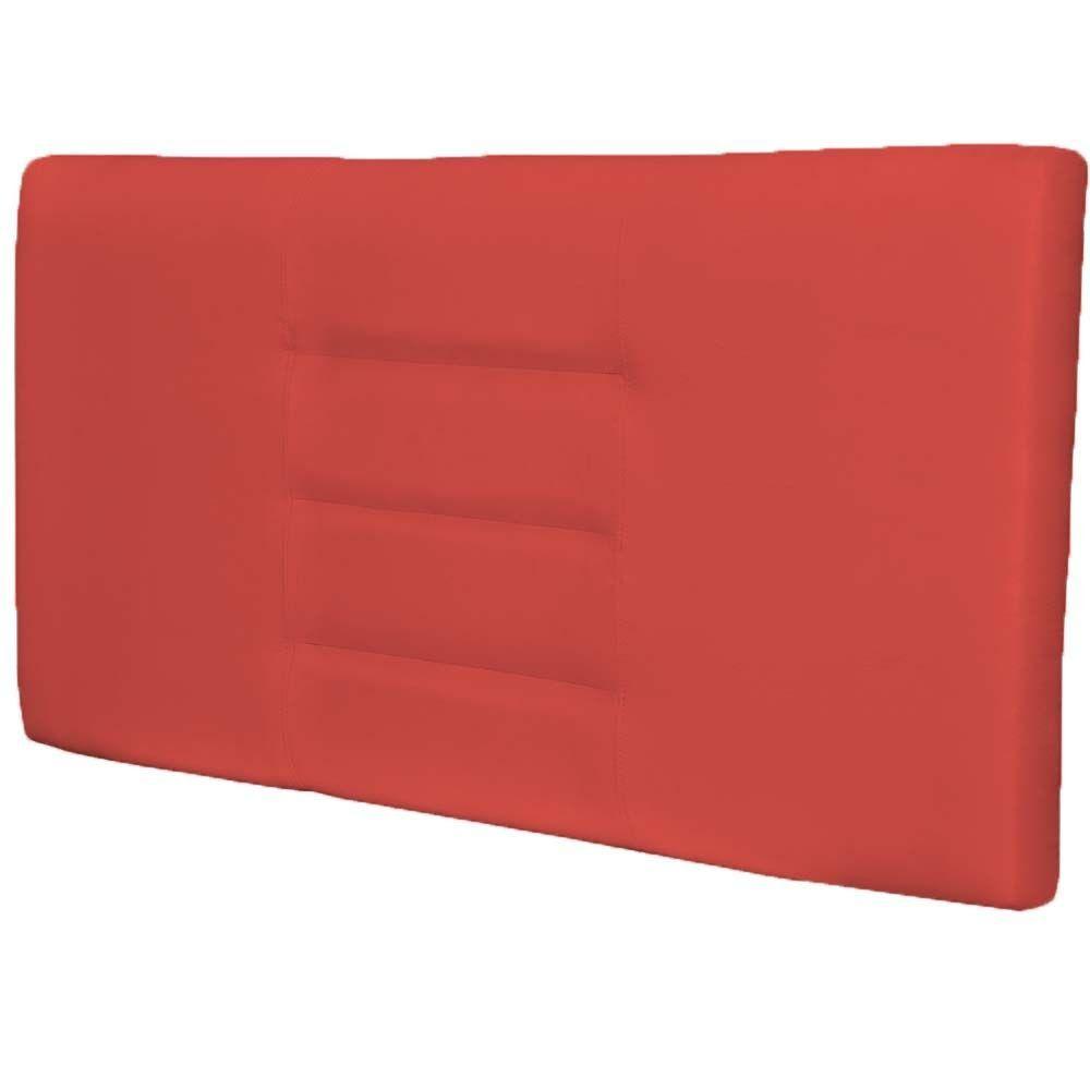 Cabeceira Painel Para Quarto de Casal Sabrina W01 Corino Vermelho 1,40 - Lyam Decor