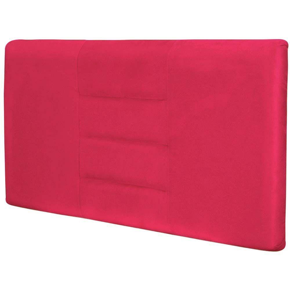 Cabeceira Painel Para Quarto de Casal Sabrina W01 Suede Pink 1,40 - Lyam Decor