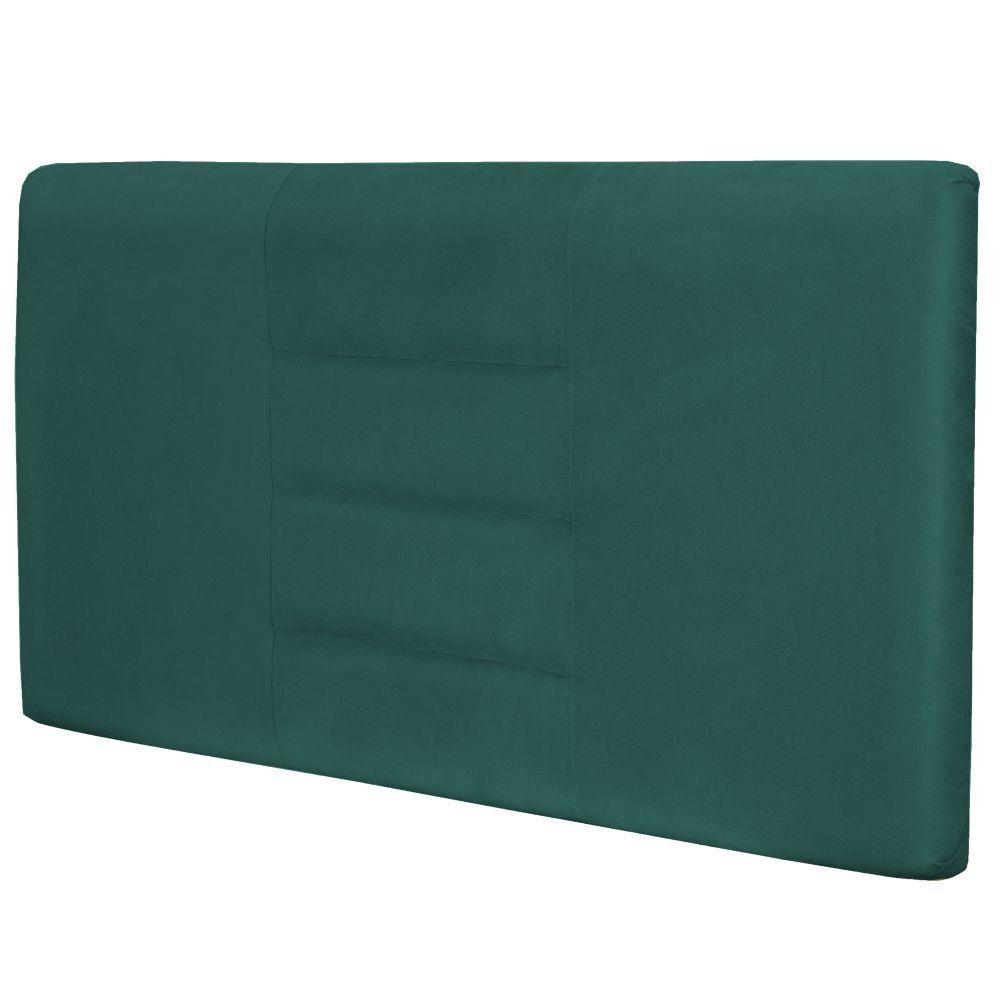 Cabeceira Painel Para Quarto de Casal Queen Sabrina W01 Suede Verde Musgo 1,60 - Lyam Decor