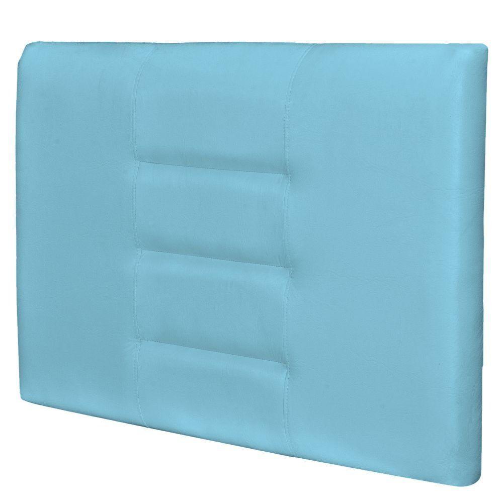 Cabeceira Painel Para Quarto Solteiro Sabrina W01 Corino Azul Claro 1,00 - Lyam Decor