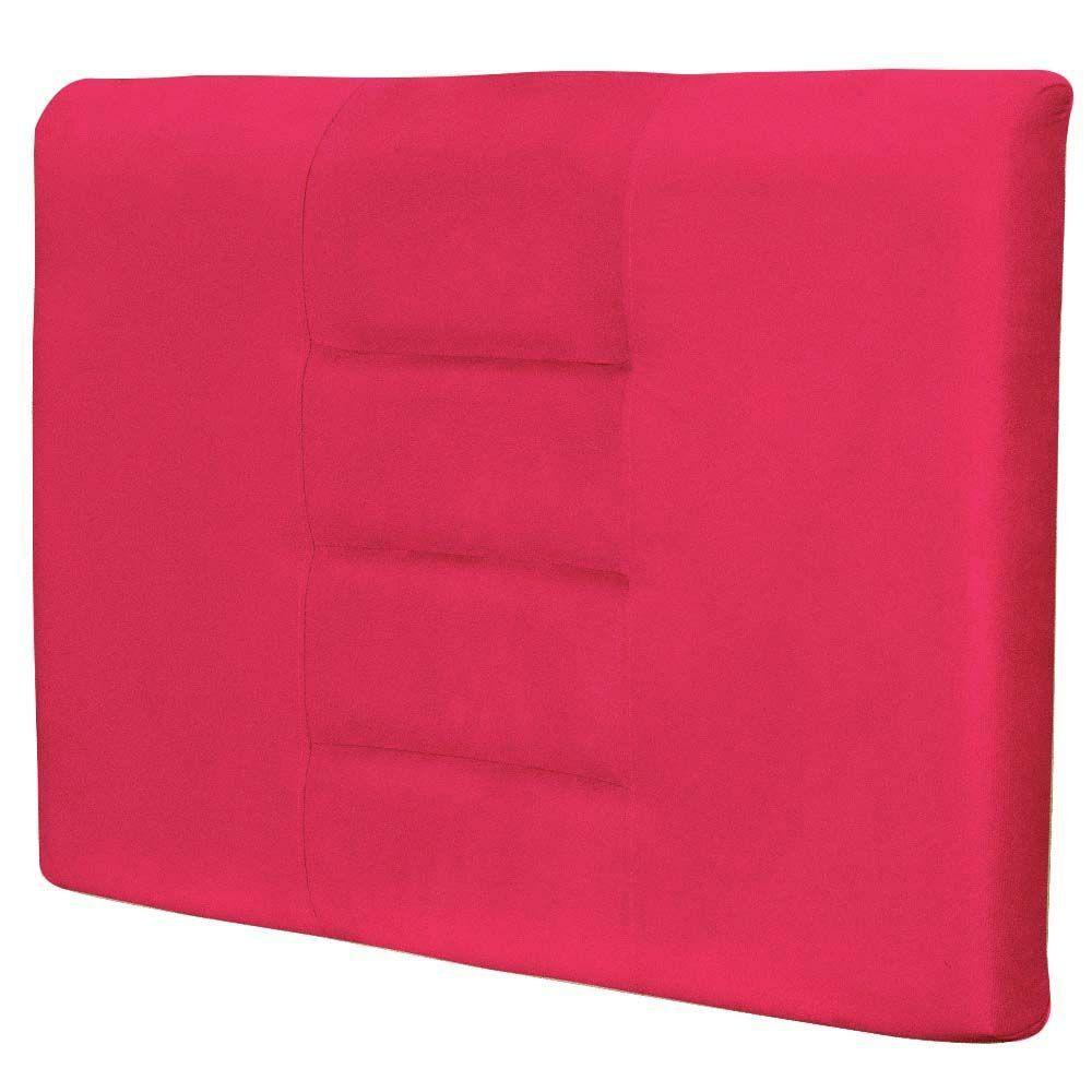 Cabeceira Painel Para Quarto Solteiro Sabrina W01 Suede Pink 1,00 - Lyam Decor