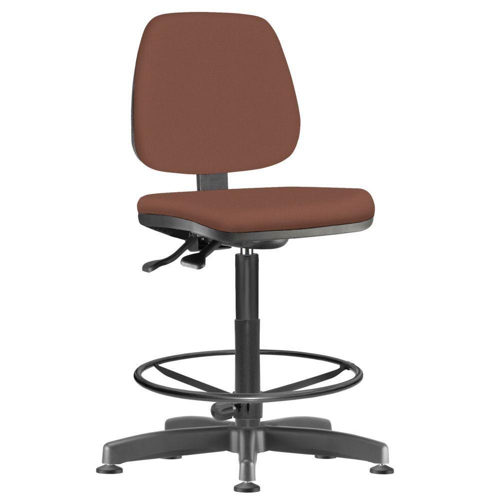 Cadeira Caixa Alta Giratória Job L02 Couro Sintético Camel - Lyam Decor