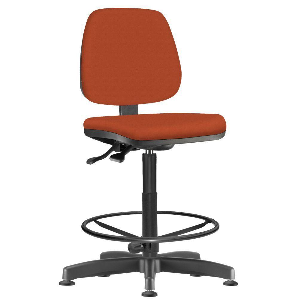 Cadeira Caixa Alta Giratória Job L02 Suede Laranja - Lyam Decor