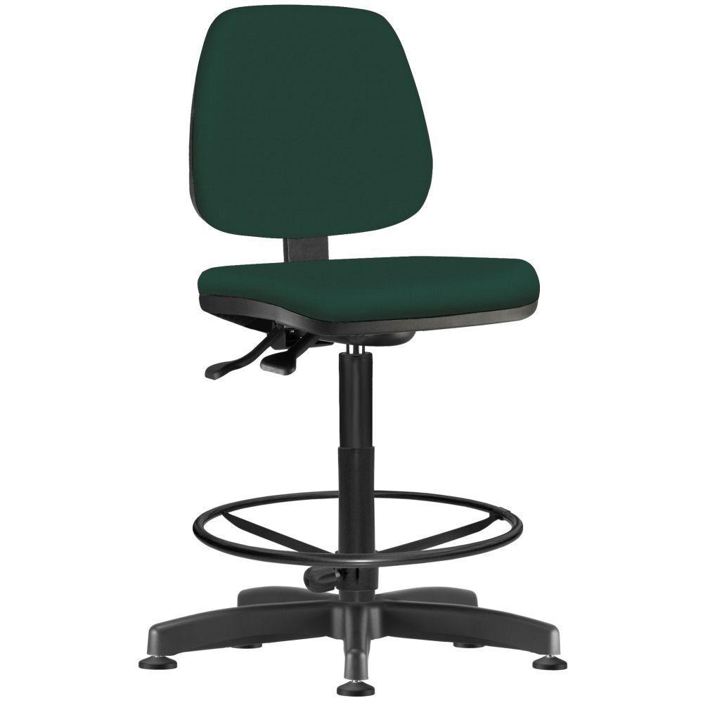 Cadeira Caixa Alta Giratória Job L02 Crepe Verde Musgo - Lyam Decor