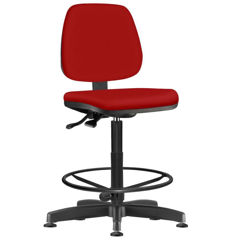 Cadeira Caixa Alta Giratória Job L02 Suede Vermelho - Lyam Decor