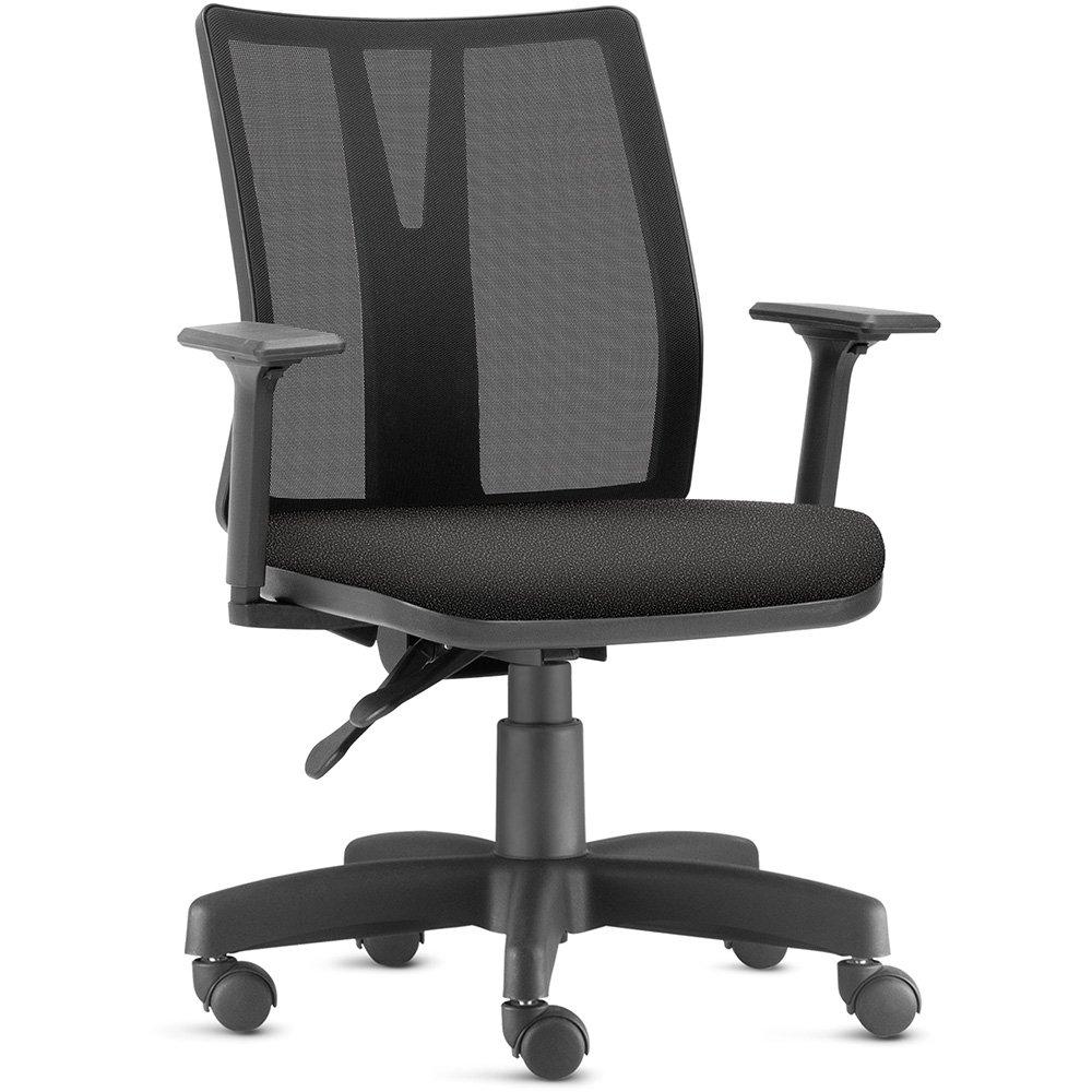 Cadeira de Escritório Diretor Giratória Executiva Addit F02 Crepe Preto - Lyam Decor