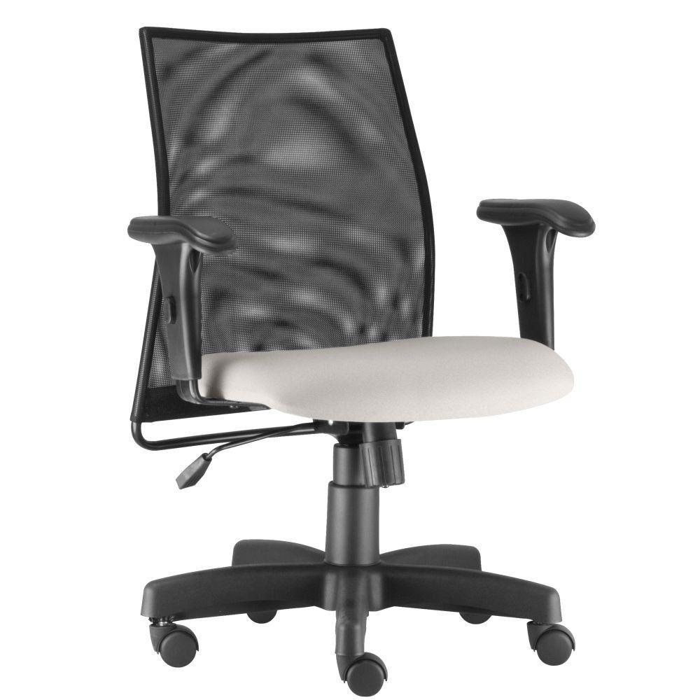 Cadeira de Escritório Giratória Executiva Ergonômica Liss L02 Couro Sintético Branco - Lyam Decor