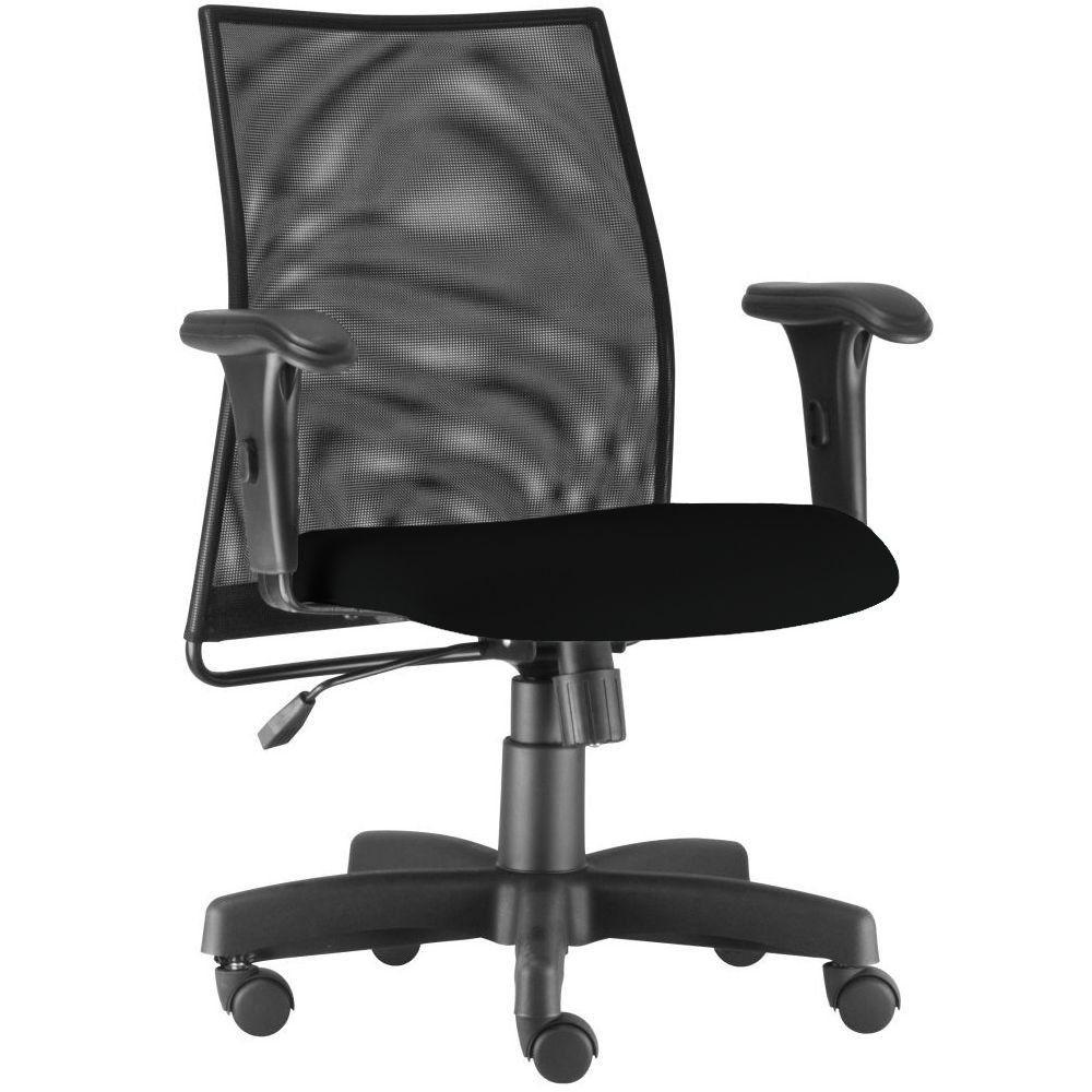 Cadeira de Escritório Giratória Executiva Ergonômica Liss L02 Couro Sintético Preto - Lyam Decor