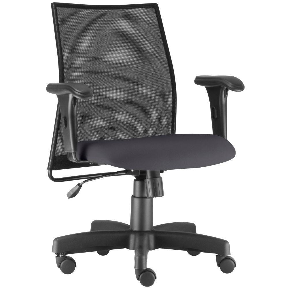 Cadeira de Escritório Giratória Executiva Ergonômica Liss L02 Crepe Cinza - Lyam Decor