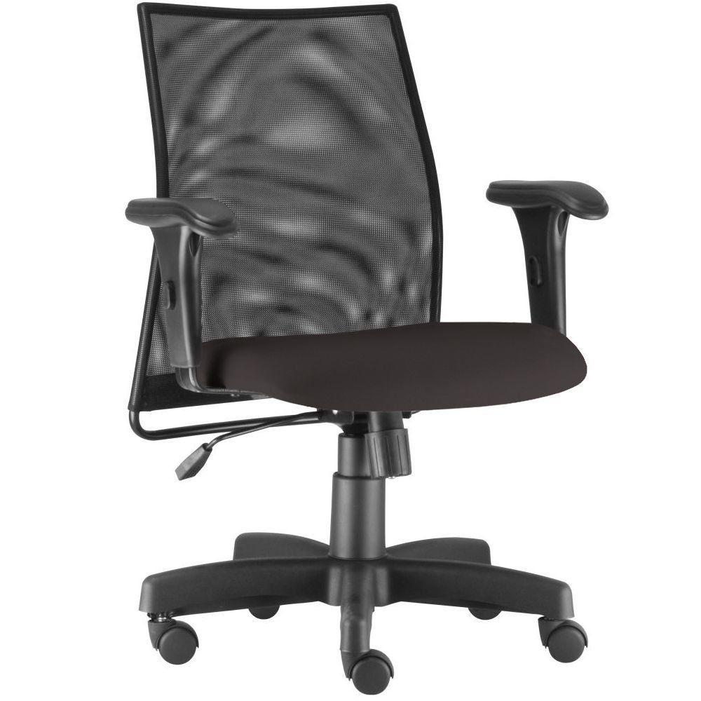 Cadeira de Escritório Giratória Executiva Ergonômica Liss L02 Suede Marrom - Lyam Decor