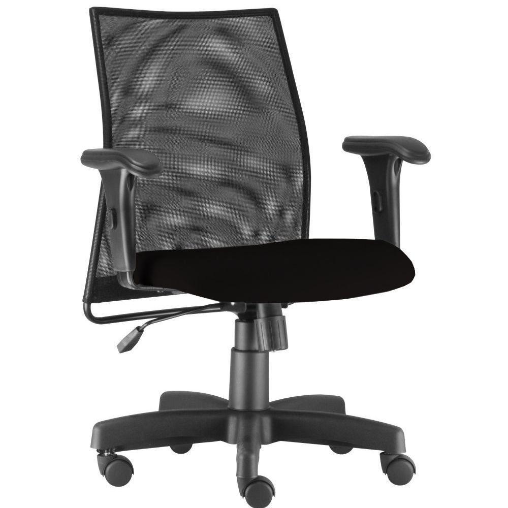 Cadeira de Escritório Giratória Executiva Ergonômica Liss L02 Crepe Preto - Lyam Decor