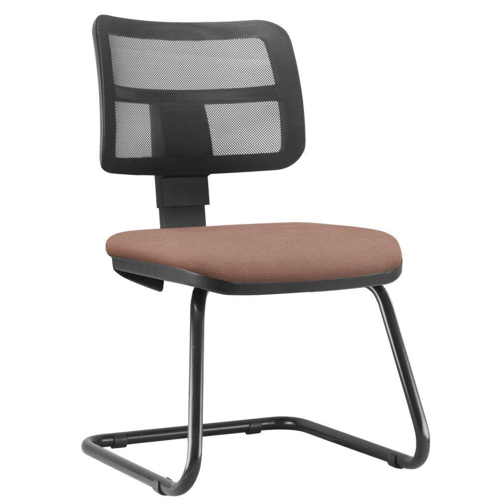 Cadeira de Escritório Recepção Fixa Zip L02 Suede Rosê - Lyam Decor