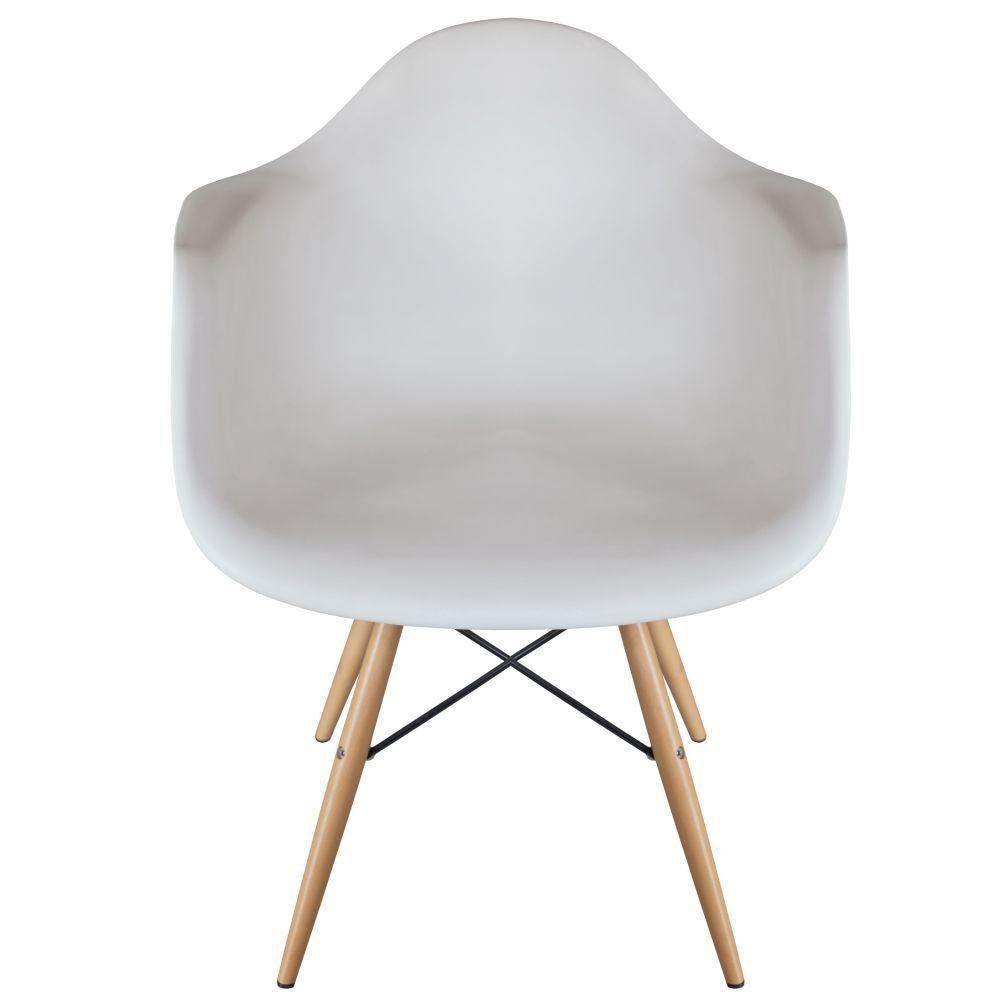 Cadeira Decorativa Eiffel Melbourne F03 Branco com Pés de Madeira - Lyam Decor