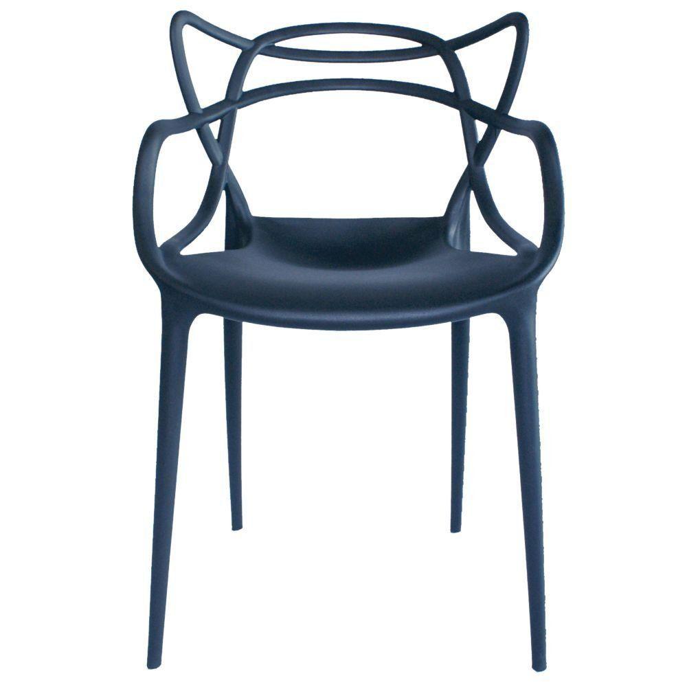 Cadeira Decorativa Para Sala de Jantar Amsterdam Preto - Lyam Decor
