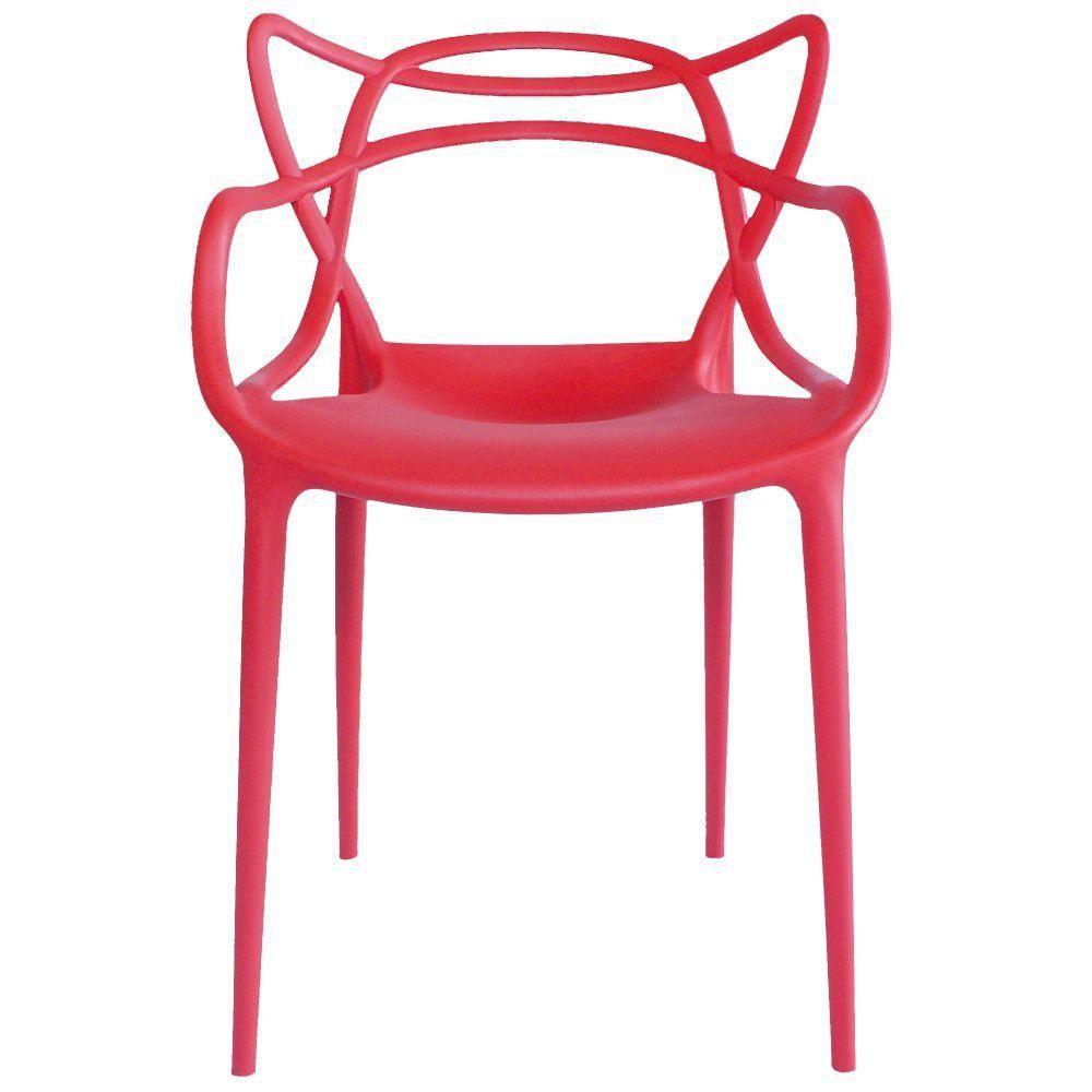 Cadeira Decorativa Para Sala de Jantar Amsterdam Vermelho - Lyam Decor