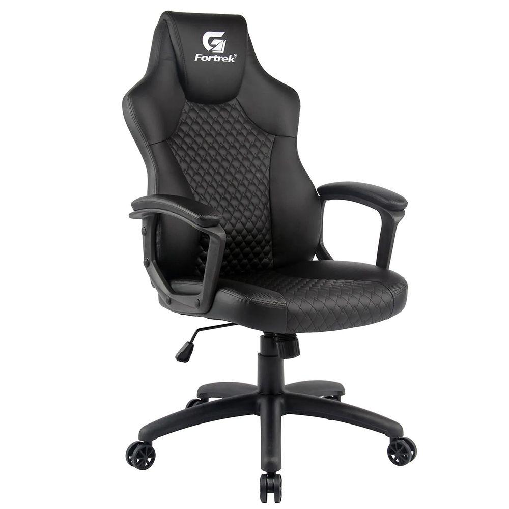 Cadeira Gamer Giratória Com Elevação a Gás Office Holt H01 Preto - Fortrek