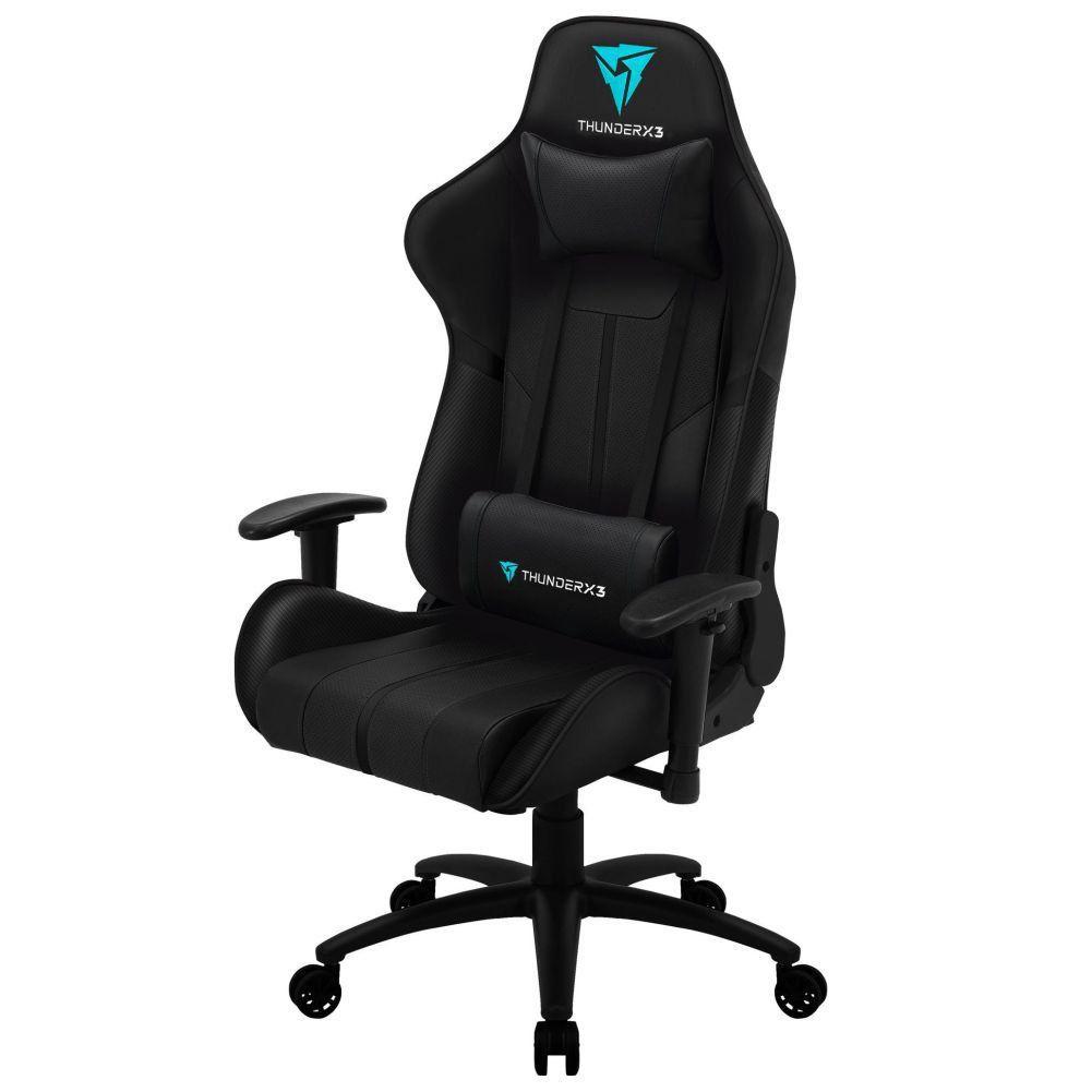 Cadeira Gamer Office Giratória com Elevação a Gás BC3 Preto - ThunderX3