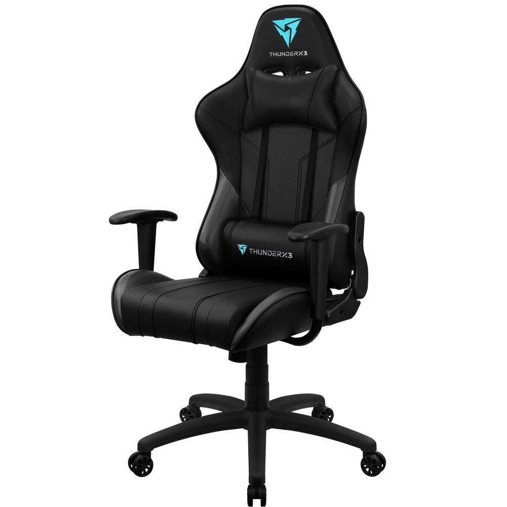Cadeira Gamer Office Giratória com Elevação a Gás EC3 H01 Preto - ThunderX3