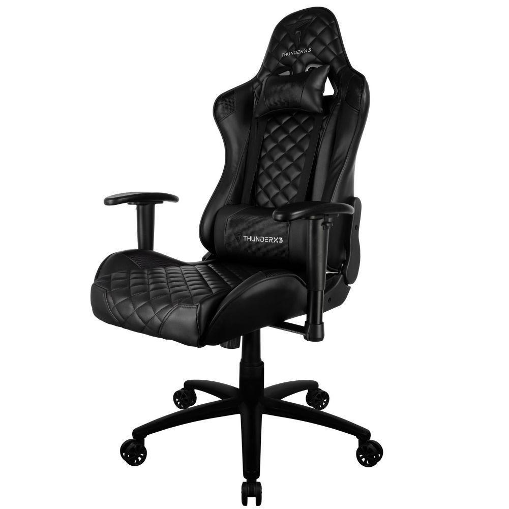 Cadeira Gamer Office Giratória com Elevação a Gás TGC12 H01 Preto - ThunderX3