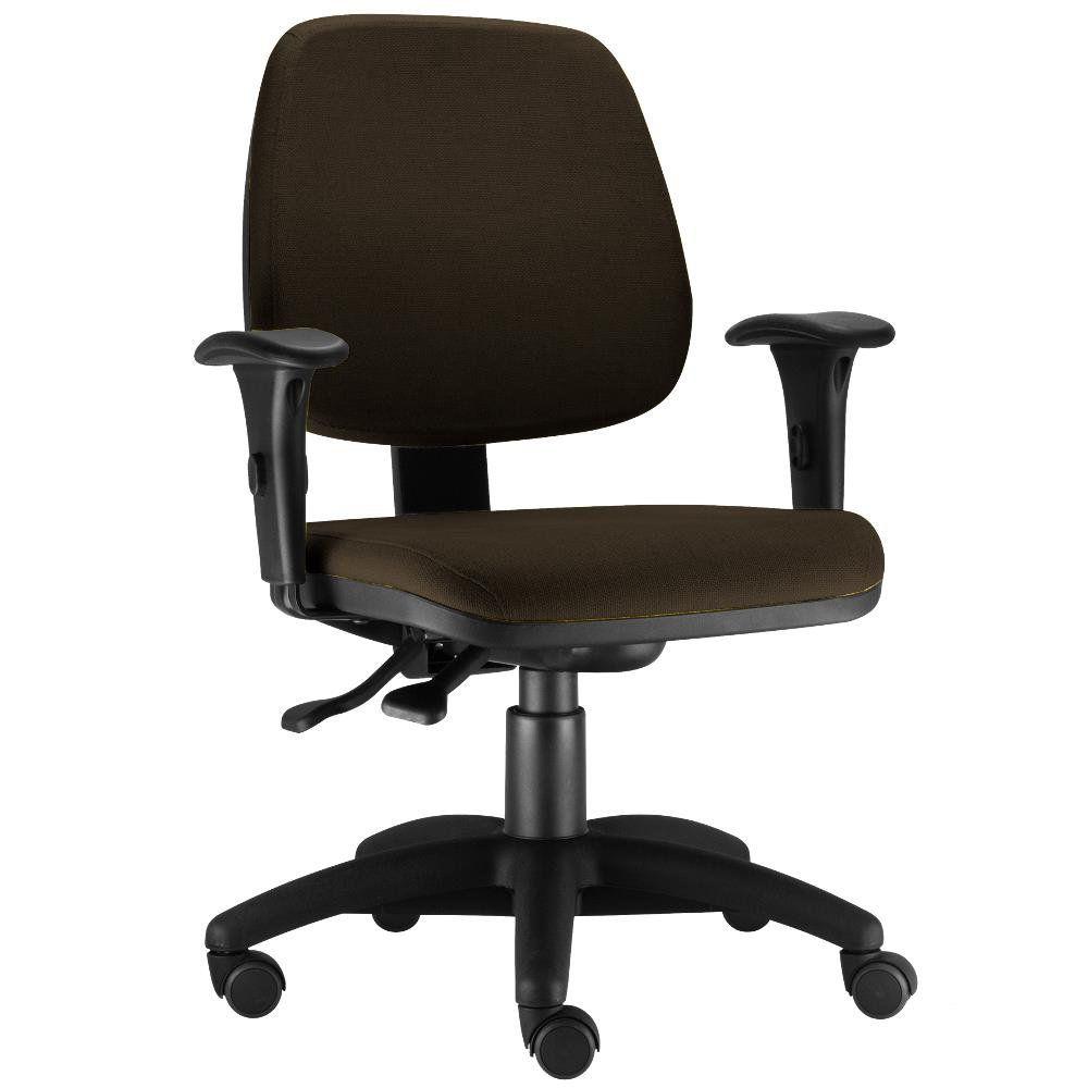 Cadeira Giratória Job L02 Executiva Ergonomica Escritório Suede Marrom - Lyam Decor