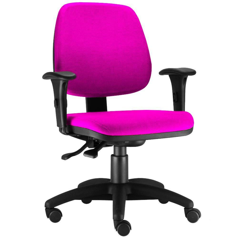 Cadeira Giratória Job L02 Executiva Ergonomica Escritório Suede Pink - Lyam Decor