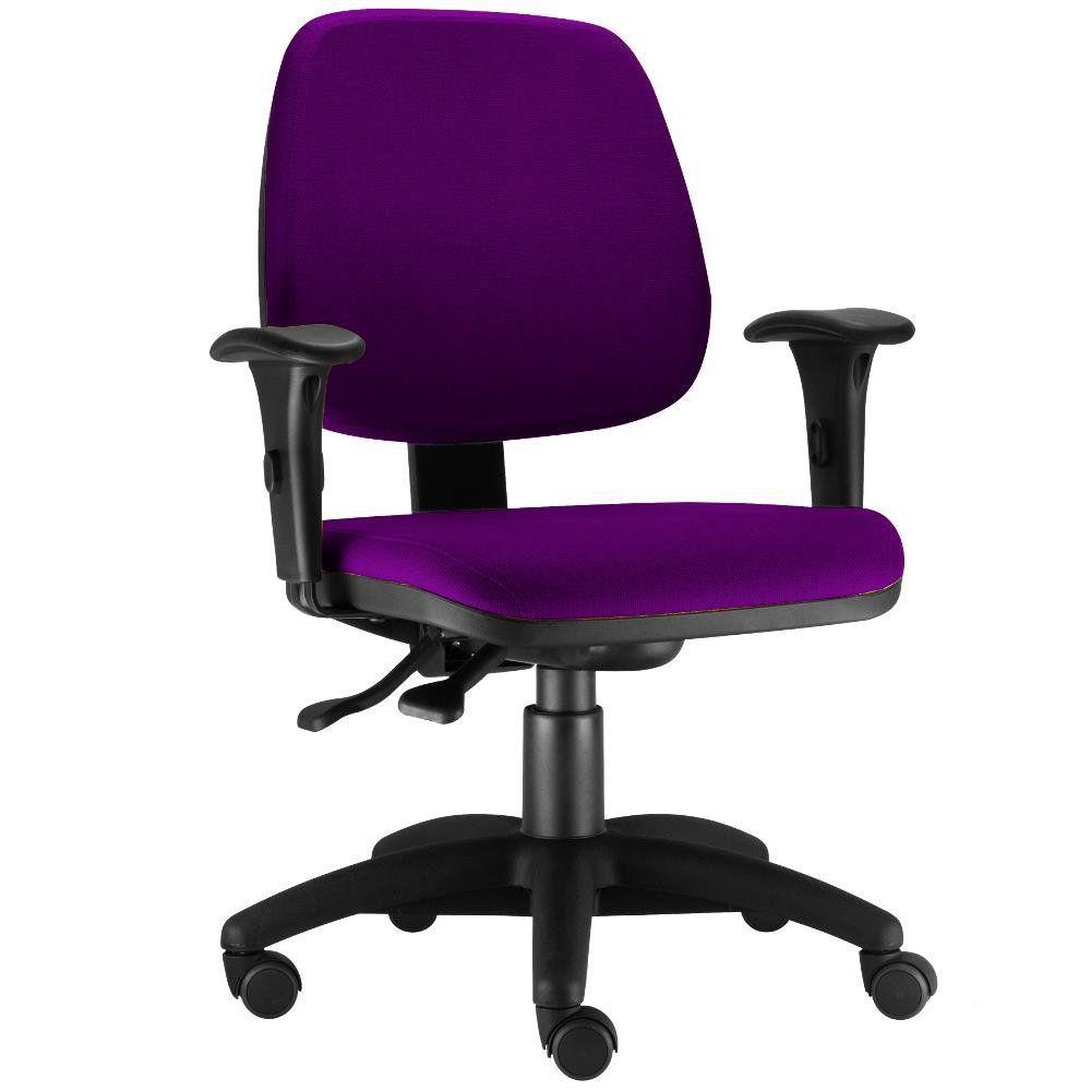 Cadeira Giratória Job L02 Executiva Ergonomica Escritório Suede Roxo - Lyam Decor