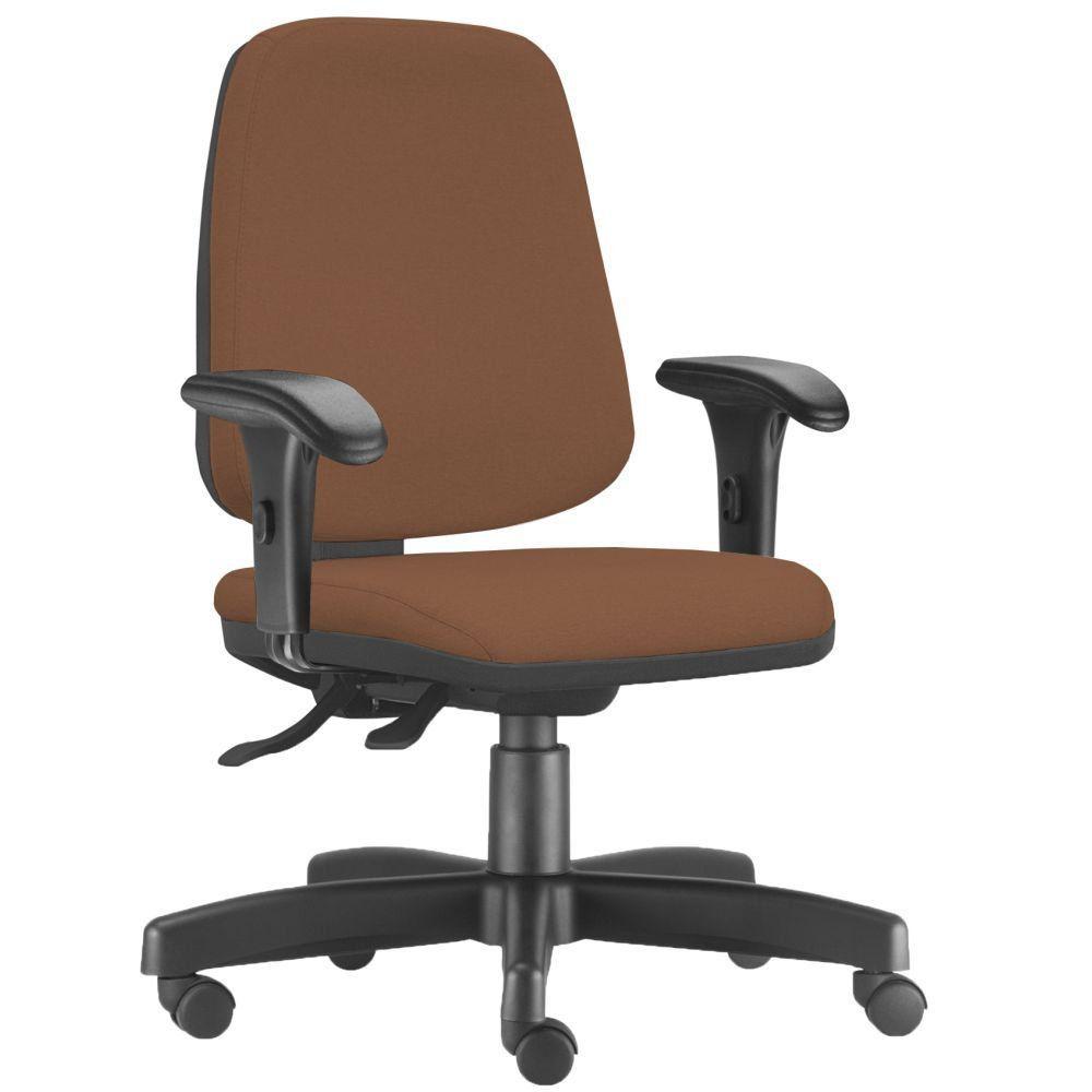 Cadeira Giratória Job L02 Diretor Executiva Couro Sintético Camel - Lyam Decor