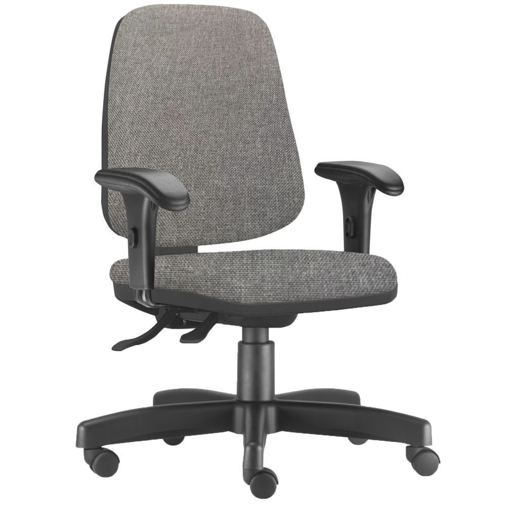 Cadeira Giratória Job L02 Diretor Executiva Linho Cinza Escuro - Lyam Decor