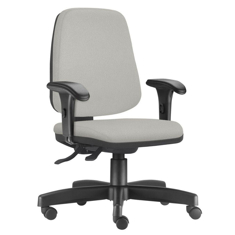 Cadeira Giratória Job L02 Diretor Executiva Linho Cinza - Lyam Decor