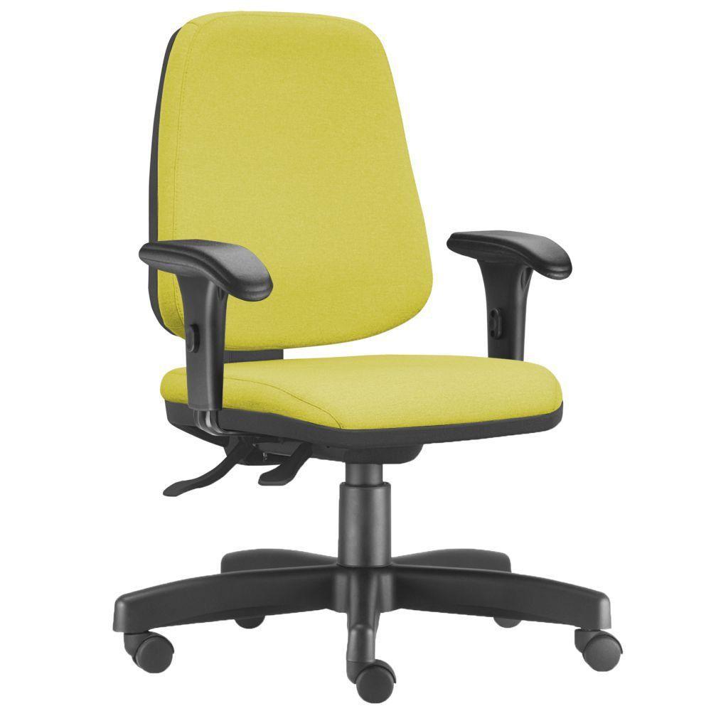 Cadeira Giratória Job L02 Diretor Executiva Suede Amarelo - Lyam Decor