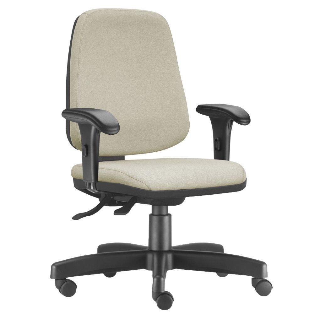 Cadeira Giratória Job L02 Diretor Executiva Suede Bege - Lyam Decor