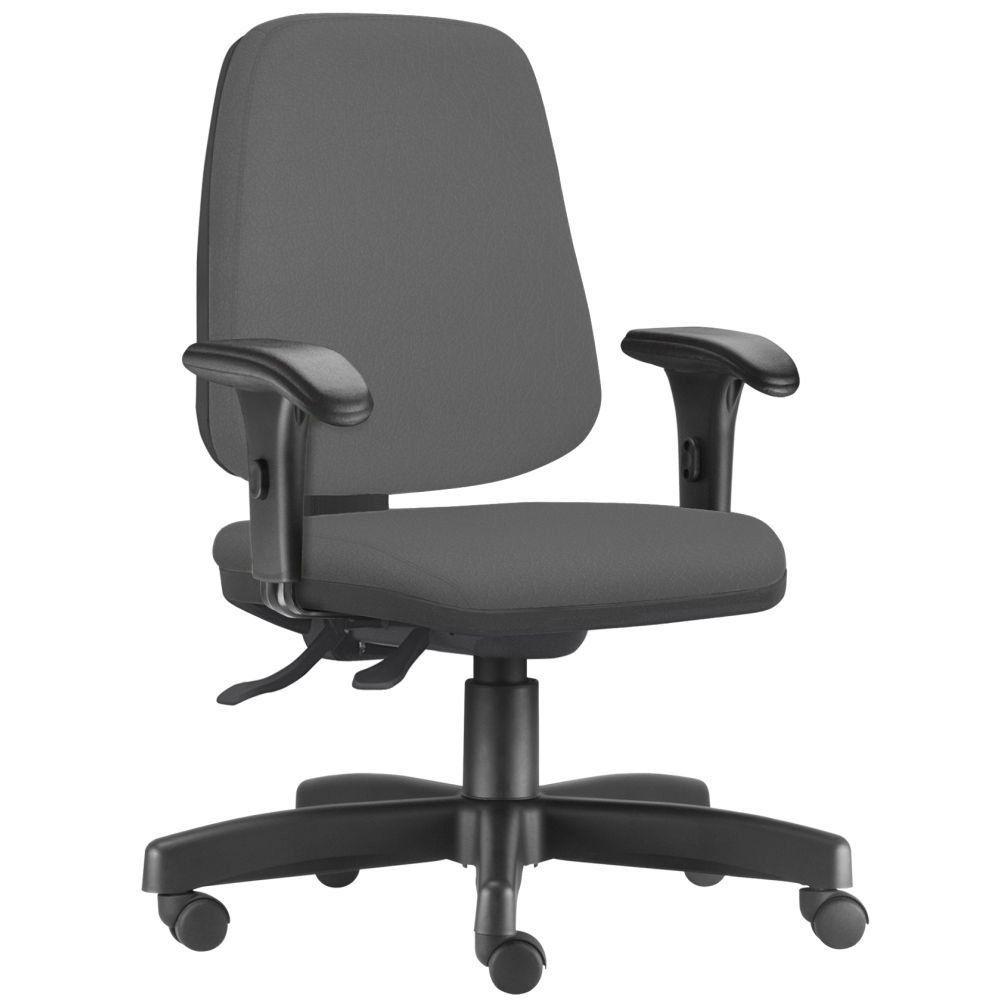 Cadeira Giratória Job L02 Diretor Executiva Crepe Cinza - Lyam Decor