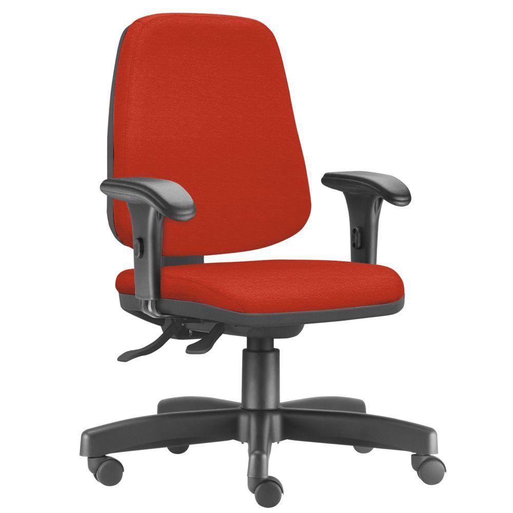 Cadeira Giratória Job L02 Diretor Executiva Suede Laranja - Lyam Decor
