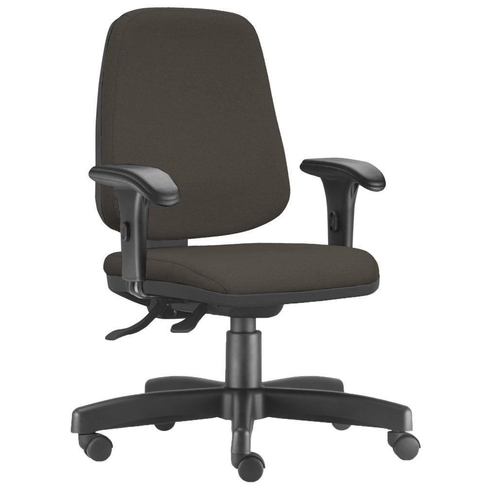 Cadeira Giratória Job L02 Diretor Executiva Suede Marrom - Lyam Decor