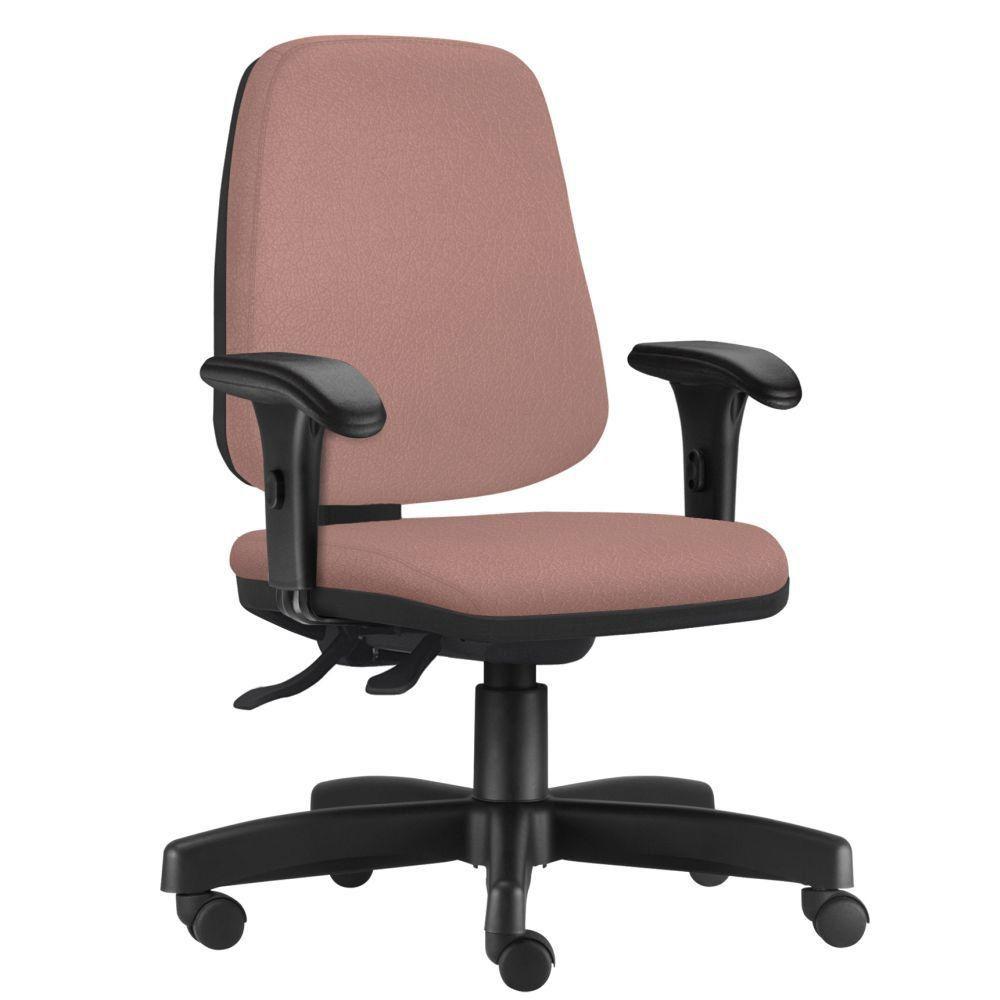 Cadeira Giratória Job L02 Diretor Executiva Suede Rosê - Lyam Decor