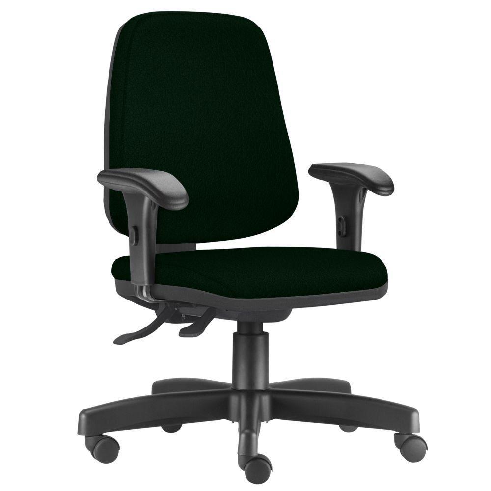 Cadeira Giratória Job L02 Diretor Executiva Crepe Verde Musgo - Lyam Decor