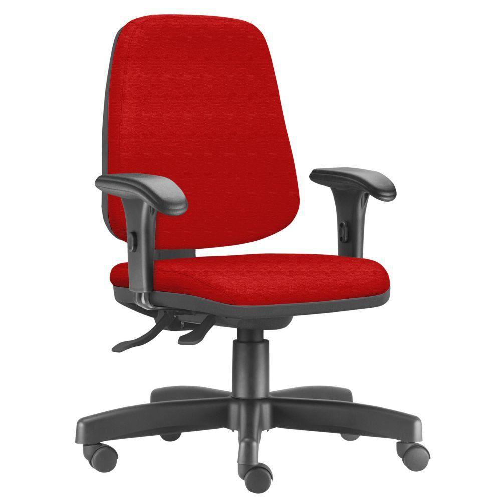 Cadeira Giratória Job L02 Diretor Executiva Suede Vermelho - Lyam Decor