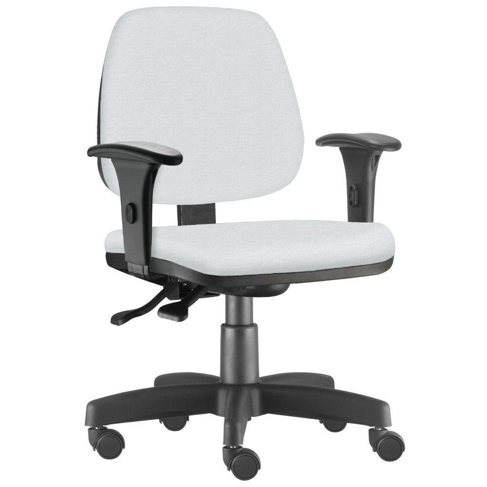 Cadeira Giratória Job L02 Executiva Ergonômica Escritório Couro Sintético Branco - Lyam Decor