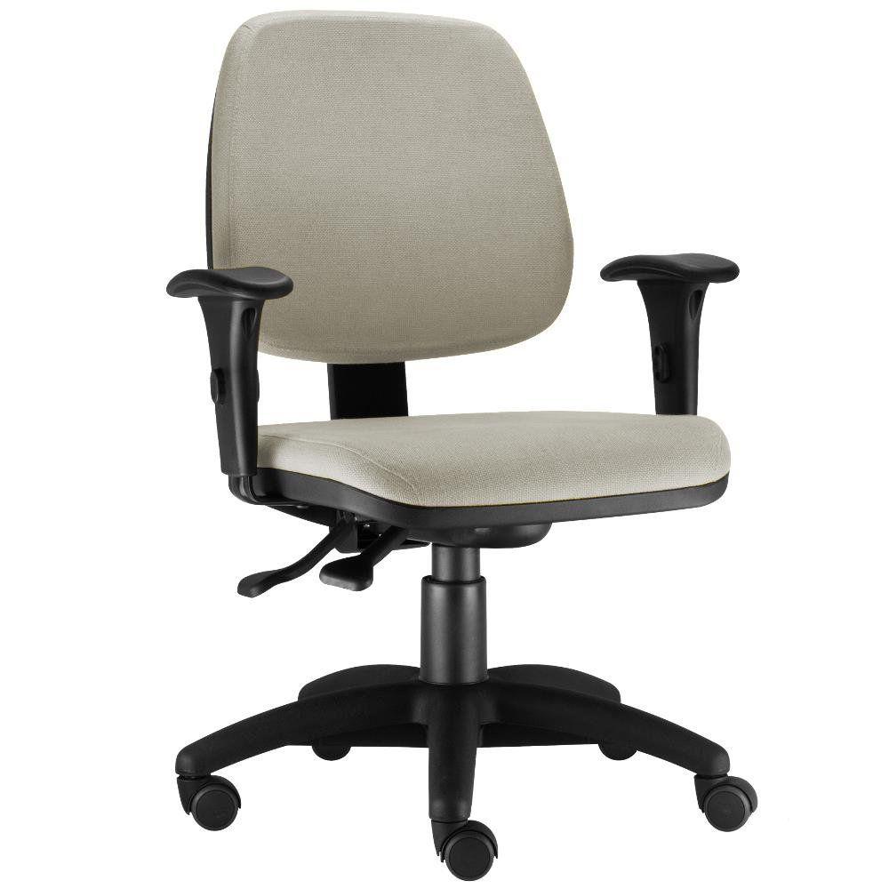 Cadeira Giratória Job L02 Executiva Ergonomica Escritório Suede Bege - Lyam Decor